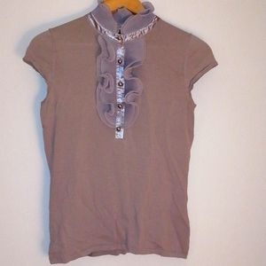 Adrienne citadin top with ruffles size small